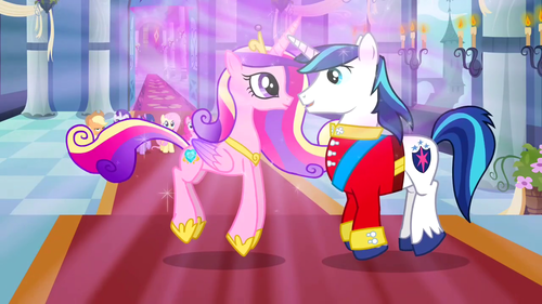 Princess Cadence fondo de pantalla probably with anime titled Princess Cadance and Shining Armor
