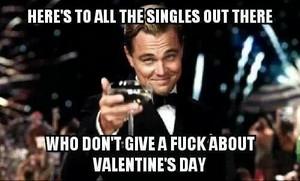 Valentines دن to singles