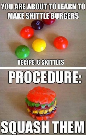 Skittle buger