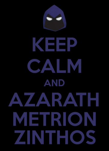 Raven's 팬 club 바탕화면 called KEEP CALM AND AZARATH METRION ZINTHOS(JY)