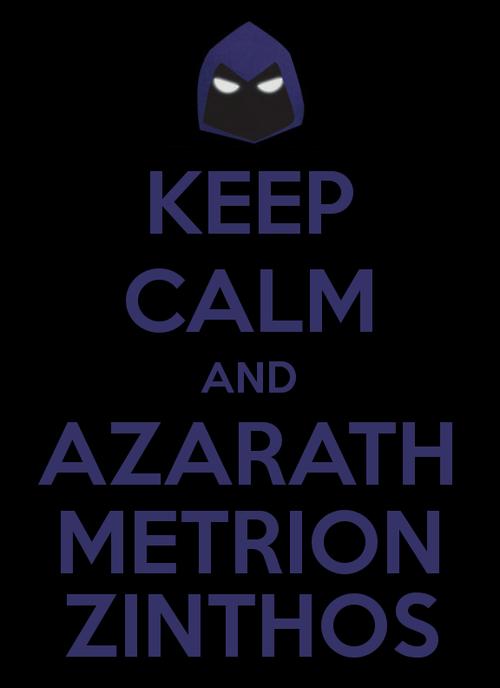 KEEP CALM AND AZARATH METRION ZINTHOS(JY)