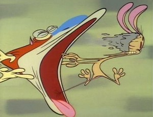 Stimpy Hacking a hairball Ren