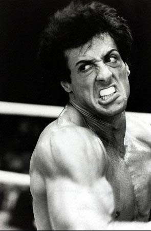 Rocky III furious Rocky