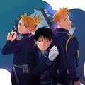 Roy Mustang, Havoc and Riza Hawkeye