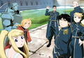 Roy Mustang, Riza, Maes, Alex, Edward and Winry