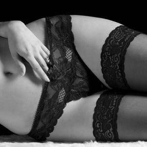 Seductive black lingerie<3