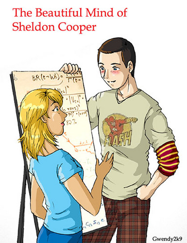 Sheldon Cooper hình nền with anime entitled sheldon and penny