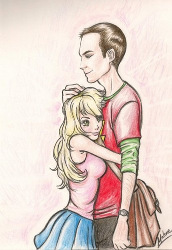 Sheldon Cooper wallpaper with anime entitled sheldon and penny