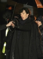 Benedict filming Season 3 - sherlock photo