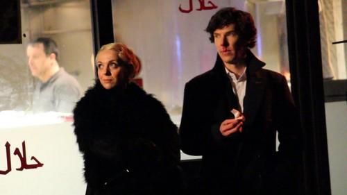 Sherlock in der BBC Hintergrund entitled Sherlock BBC