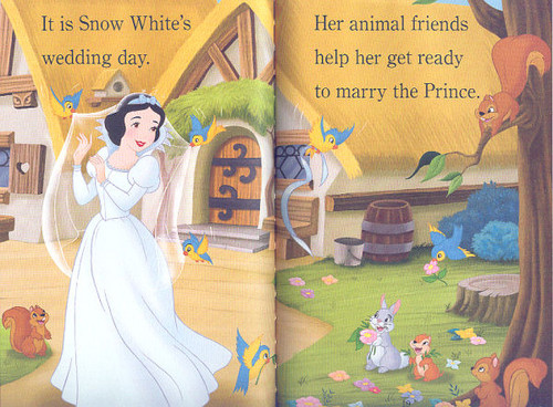 Snow White and the Seven Dwarfs achtergrond titled Snow White's Wedding dag
