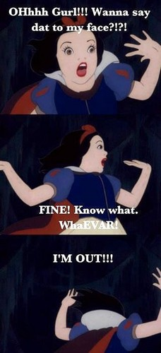 Snow White Обои with Аниме called Say that to my face