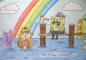spongebob and sandy