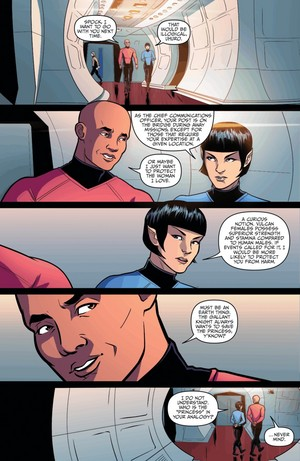 star, sterne trek ongoing 29   Spock and 'Uhuro' genderbend parallel reality