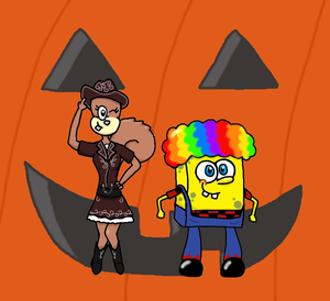 spongebob and sandy
