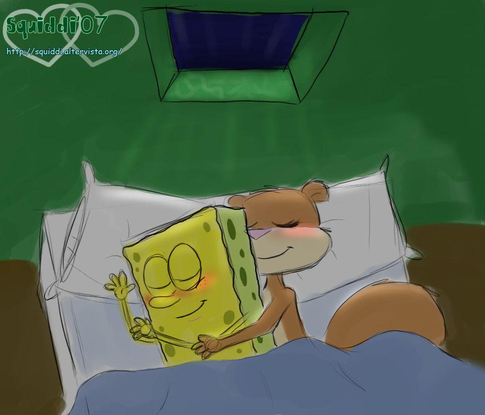 spongebob-und-sandy-die-es-im-bett-haben