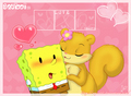spongebob and sandy - spongebob-squarepants fan art