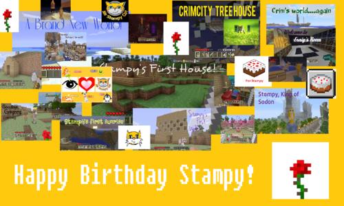 Stampylongnose Hintergrund called Happy Birthday, Stampy!