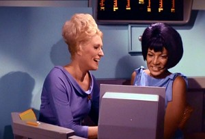 Uhura and Chapel!