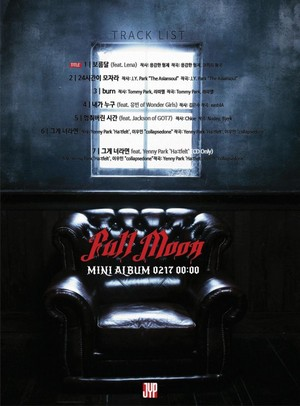 Tracklist for 'Full Moon'