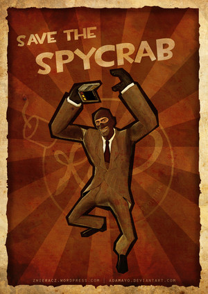 Spy doing his Spycrab dance