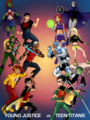 young justice vs teen titans - teen-titans-vs-young-justice photo