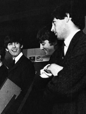 George Harrison, John Lennon and Paul McCartney
