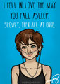 """ i feel in love with the way you fall asleep, slowly and then all at once""-Hazel Grace. - the-fault-in-our-stars photo"