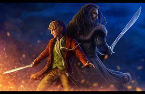 Bilbo and Thorin Artwork par Dwalinroxxx