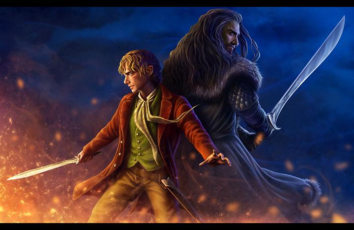 Bilbo and Thorin Artwork by Dwalinroxxx