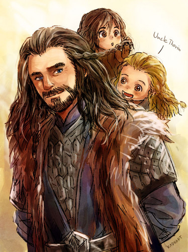 호빗 바탕화면 containing 아니메 called Thorin, Fili, Kili