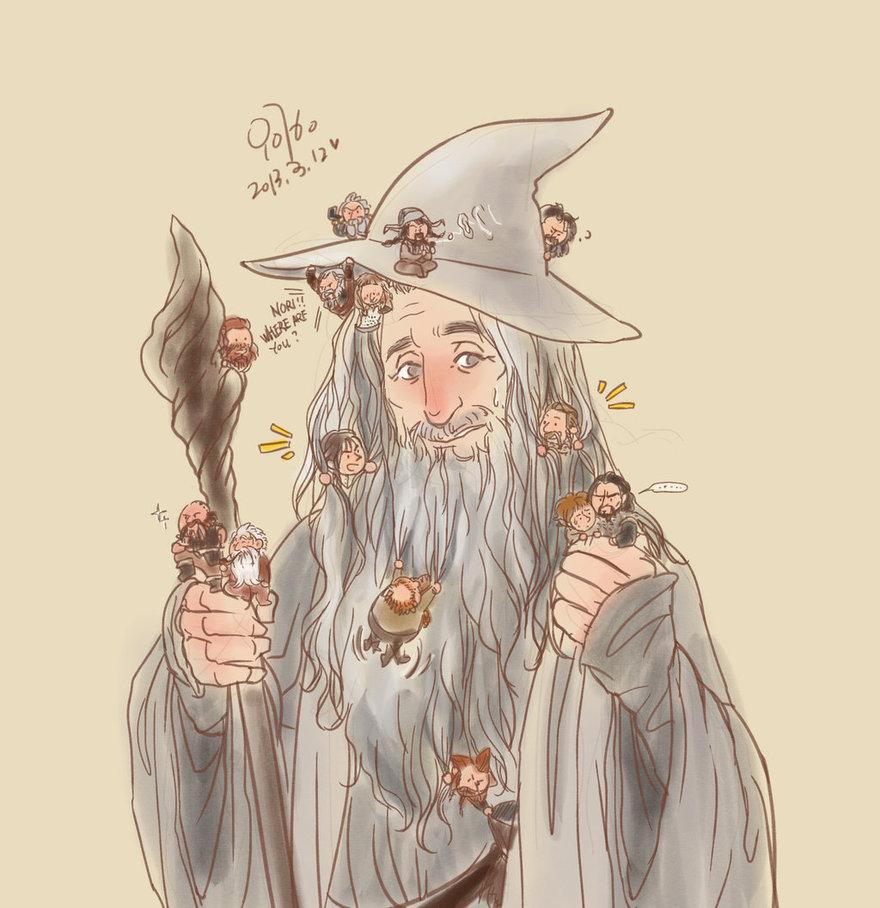 Gandalf Company The Hobbit Fan Art 36688105 Fanpop