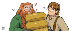 Bilbo and Bombur