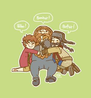 Bilbo, Bombur, Bofur