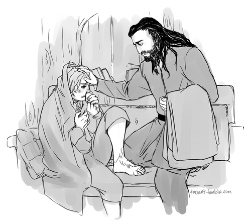 The Hobbit wolpeyper possibly with anime called Thorin & Bilbo