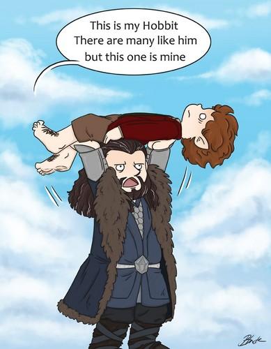 호빗 바탕화면 possibly containing 아니메 called Thorin & Bilbo