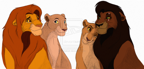 The Lion King 2:Simba's Pride wallpaper called kings and queens second gen