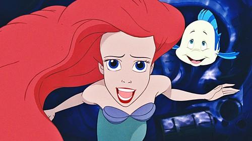 인어공주 바탕화면 with 아니메 called Walt 디즈니 Screencaps - Princess Ariel & 가자미, 넙치