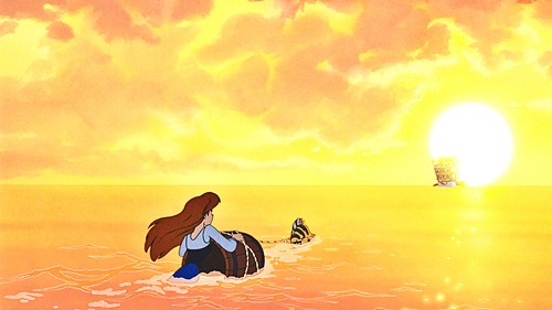 La Sirenetta wallpaper containing a sunset entitled Walt Disney Screencaps - Princess Ariel & platessa, passera pianuzza