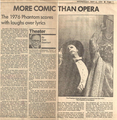 Ken Hill Newspaper Review from Wednesday, May 2, 1990  - the-phantom-of-the-opera photo