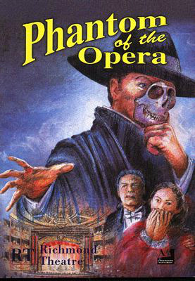 PHANTOM OF THE OPERA দ্বারা Ken পাহাড় Venue: Richmond UK 2001 Poster