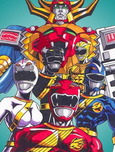The Power Rangers wallpaper containing anime called Power Rangers Wild Force