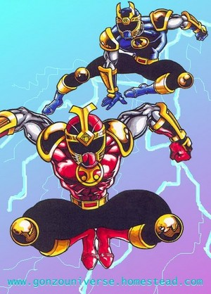 Crimson and Navy Thunder Rangers (Ninja Storm)