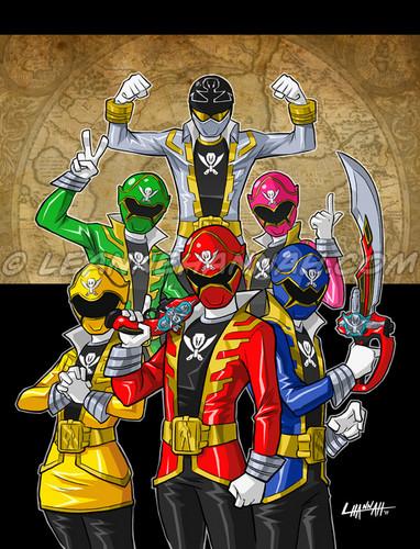 The Power Rangers karatasi la kupamba ukuta possibly containing anime titled Power Rangers Super Megaforce