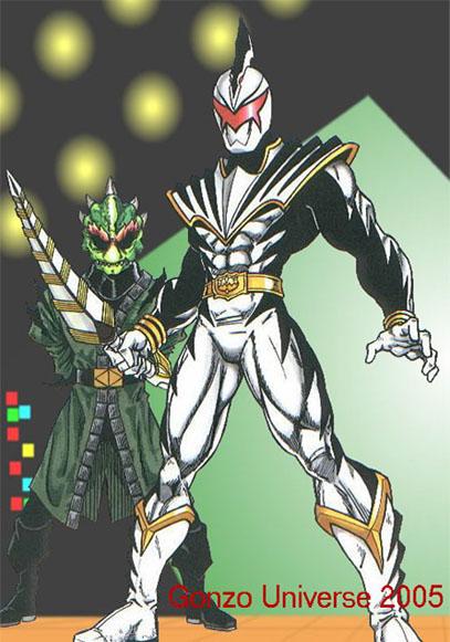 White Drago Ranger and Mesogog