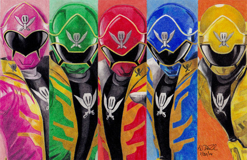 The Power Rangers karatasi la kupamba ukuta called Power Rangers Super Megaforce