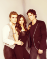 Ian Nina Paul - the-vampire-diaries photo
