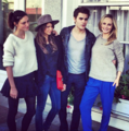 Paul Wesley, Nina Dobrev, Candice Accola and Phoebe Tonkin at Savannah Film Festival  - the-vampire-diaries photo