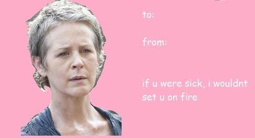 The Walking Dead Wallpaper Containing A Portrait Titled Walking Dead  Valentine (Carol)