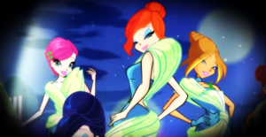 Winx Fashion Show: Tecna, Bloom and Flora